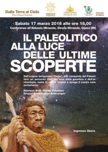 Conferenza Il Paleolitico alla luce delle ultime scoperte Associazione Astronomica Mirasole