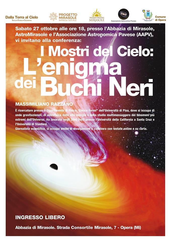 Astronomia Milano Conferenza Buchi Neri