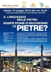 Conferenza geologia Milano Abbazia Mirasole