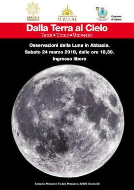 Osservazione Luna 24 marzo 2018