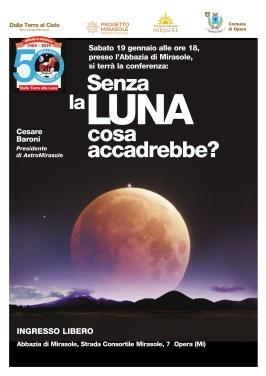 Senza la luna cosa accadrebbe? Conferenza Astronomia Abbazia di Mirasole