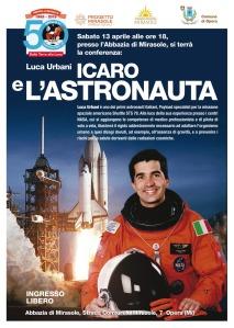 Conferenza astronomia astronauta Luca Urbani Milano Mirasole