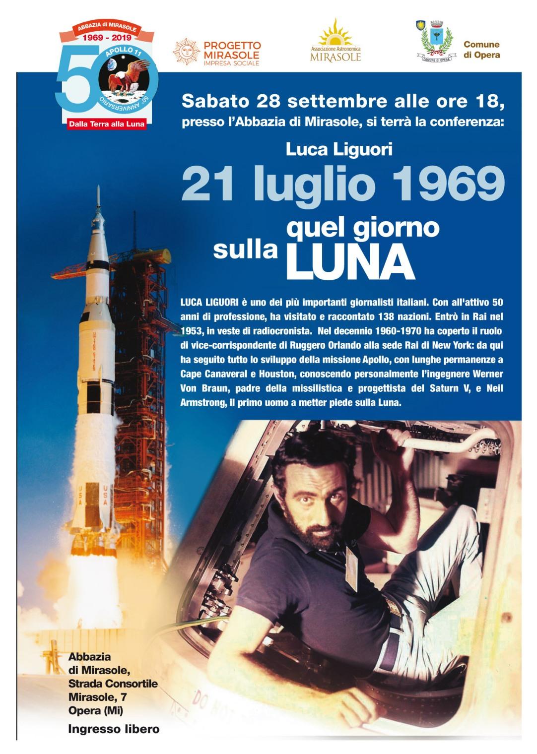 Luca Liguori conferenza astronomia Milano Opera