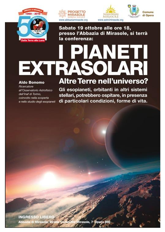 Conferenza astronomia Milano Mirasole Pianeti extrasolari