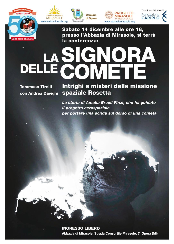Conferenza astronomia Mirasole Comete Milano